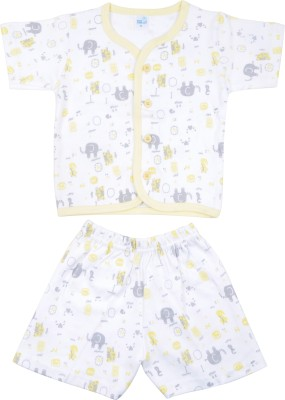 Kandy Floss Baby Boy's Animal Print Yellow Top & Shorts Set