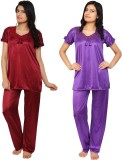 Krazy Katz Women's Solid Maroon, Purple ...