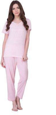 Rose Vanessa Women's Printed Pink Top & Pyjama Set at flipkart