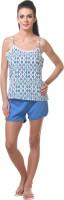Tweens Women's Clothing - Tweens Women's Printed Blue Top & Shorts Set