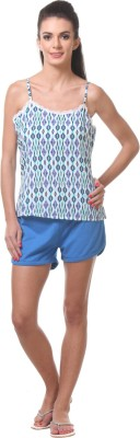 Tweens Women's Printed Blue Top & Shorts Set