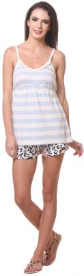 Kotty Women's Printed Multicolor Top & Shorts Set