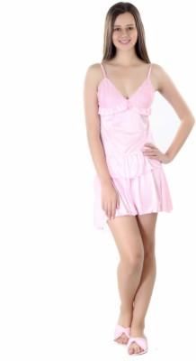 Se Deplace Women's Solid Pink Top & Skirt Set