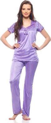 Loot Lo Creation Women's Solid Pink Top & Pyjama Set
