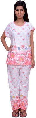 Snoby Women,s Printed Multicolor Top & Pyjama Set