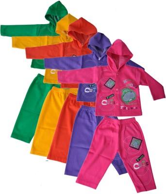 Mahadhi Boy's Printed Multicolor Top & Pyjama Set