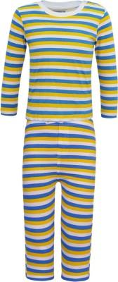 Kothari Baby Girl's Striped Multicolor Top & Pyjama Set