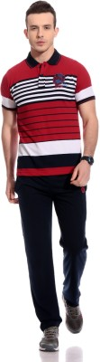 TAB91 Fashion Forecast Men's Striped Red Top & Pyjama Set