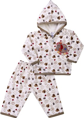 Ollypop Baby Boy's Animal Print Multicolor Top & Pyjama Set