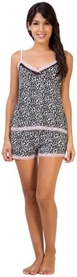 Penny by Zivame Women,s Animal Print Multicolor Top & Shorts Set
