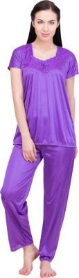 LeSuzaki Women's Solid Purple Sleepshirt