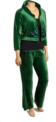 Textures Fashion Women's Embellished Green Top & Pyjama Set