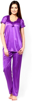 Christy world Womens Solid Purple Top & ...
