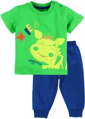 Mom & Me Baby Boy's Printed Multicolor Top & Pyjama Set