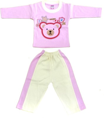 Kandy Floss Baby Boy's Animal Print Pink Top & Pyjama Set