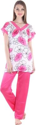 Private Lives Women's Printed Pink Top & Pyjama Set