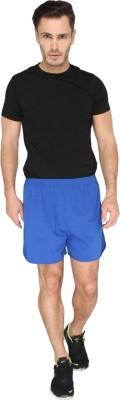 LUCfashion Men's Self Design Blue, Black Top & Shorts Set