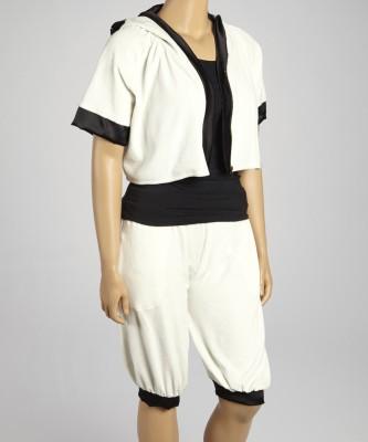Textures Fashion Women's Embellished White Top & Shorts Set
