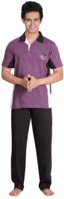 Inter Creation Men's Solid Multicolor Top & Pyjama Set