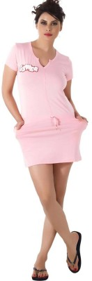 Shyle Women's Solid Pink Sleepshirt