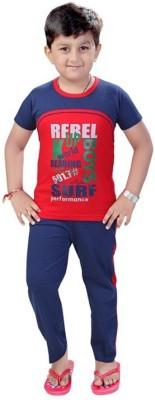 Mint Boy,s Printed Red Top & Pyjama Set