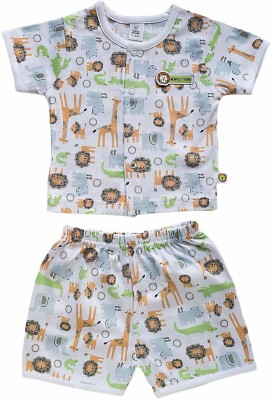 Toffy House Baby Boy's Printed Multicolor Top & Shorts Set