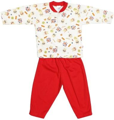 Babeezworld Baby Boy's Printed Red Sleepshirt