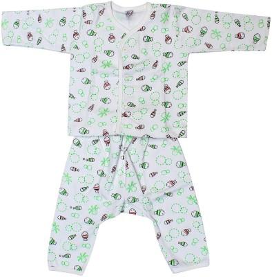 Babeezworld Baby Boy's Printed Green Sleepshirt