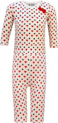 Kothari Baby Girl's Printed Multicolor Top & Pyjama Set
