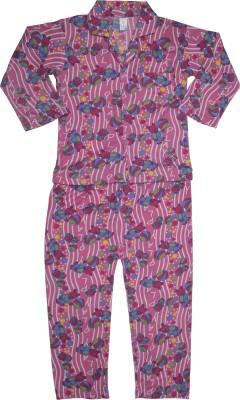 Kingstar Boy's Printed Pink Top & Pyjama Set