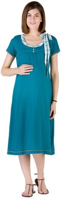 Morph Maternity Women's Solid Dark Green Sleepshirt