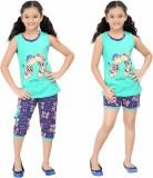Red Ring Kids Nightwear Girls Printed Co...