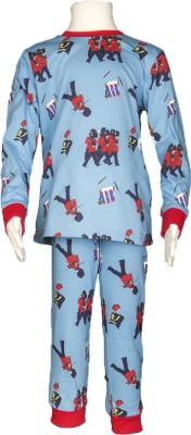 White castle Baby Boy's Printed Multicolor Top & Pyjama Set