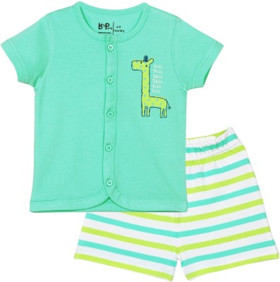 Baby Pure Baby Boy's Solid Blue Top & Shorts Set