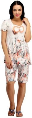 Snoby Women,s Printed Multicolor Top & Capri Set
