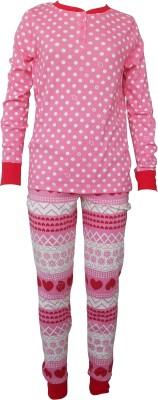 Sweet Dreams Girl's Floral Print Pink Top & Pyjama Set