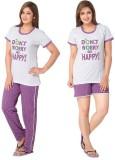 Avani Women's Polka Print Purple, White ...