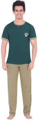 Inter Creation Men,s Solid Multicolor Top & Pyjama Set