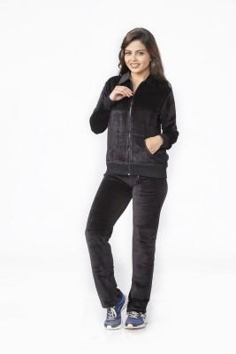 Melodie Women's Printed Black, Black Top & Pyjama Set