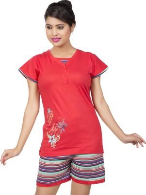 Ishin Women's Printed Multicolor Top & Capri Set