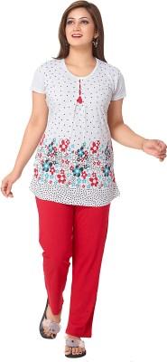 Avani Women's Floral Print Multicolor Top & Pyjama Set