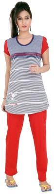 Mint Women,s Solid Grey Top & Pyjama Set
