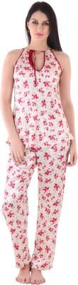 Private Lives Women's Printed Purple Top & Pyjama Set
