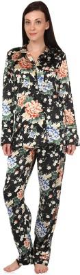 Oxolloxo Women's Printed Multicolor Top & Pyjama Set