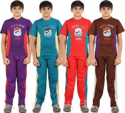 Zippy Boy's Printed Multicolor Top & Pyjama Set