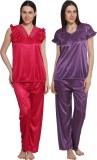 eSOUL Women's Self Design Pink, Purple T...