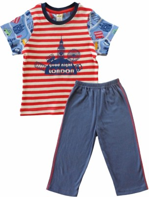 Tiny Bee Boy's Striped Multicolor Top & Pyjama Set