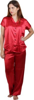 Vixenwrap Women's Polka Print Red Top & Pyjama Set