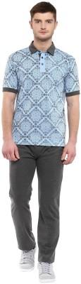 Cayman Men's Printed Blue Top & Pyjama Set