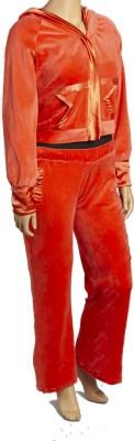 Textures Fashion Women's Embellished Orange Top & Pyjama Set